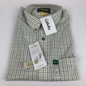 Cabela's Nanotex Button Up Short Sleeve Shirt Tall